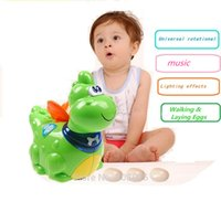 baby walking early - Electronic Toy Walking Laying Eggs Dinosaurs With Music Lights Baby Early Edcuational Animal Toy