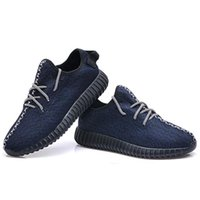 Wholesale Kanye West Sports Shoe Branded Boost Classic Navy Blue Shoes Womens and Mens Fashion Sneakers Trainers Shoes with Original Box