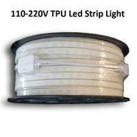 Wholesale MJJC TPU V High Powered SMD5050 Flexible LED Strips Rope Light White Warm White Custom Cut
