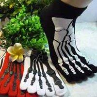 cotton five toe socks - Fashion Skull High Quality Five Fingers Socks Dragon Scorpion Women Men Antibiotic DJ Anti Odor Socks Cotton Socks Toe