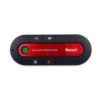 Wholesale Portable Multipoint Wireless Hands Free Bluetooth In Car Speakerphone Car Kit waitingyou