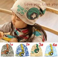 baby headphone - Children s caps baby kids explosion models of child hat sleeve floral headgear headphones cap boys girls hats