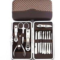 NAS_20C Set 13 IN 1 13pcs set Nail Clipper Kit 360 Degree Turned Nail Scissor Earpick Utility Manicure Set Tools Nail Care Set NAS_20C