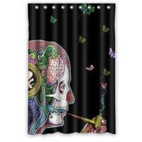alice curtain - Hot Sale Custom Alice in wonderland Fashion Home Living Waterproof Bathroom Decor Shower Curtain x72 with hooks