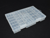 Wholesale 1pcs New Rack Transparent AA AAA C D V Hard Plastic Battery Case Holder Storage Box K5BO
