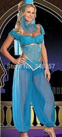 belly dancer fancy dress - New Women Sexy Indian Dancers Pipe Belly Performing Dance Clothing Halloween Costumes Cosplay Fancy Dress Plus Size M L XL