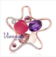 african american art - European and American art of selling personalized diamond brooch stars Ms Czech V059528B