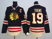 Wholesale Blackhawks Jonathan Toews Hockey Sports Apparel New Winter Classic Stanley Cup Winner Best Style Jerseys Cheap Outdoor Apparel for Sale