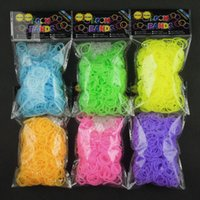 Wholesale Hot Glow in the Dark Loom Jelly Bands Rubber Bands Loom Bracelets bands clips Colors Fast Delivery by FedEx IP