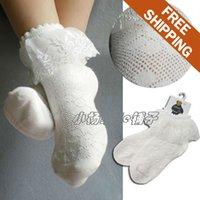 Wholesale Lace Free 7years Girl - Wholesale-Free shipping! Children kids Girls' white 80%cotton thin socks. Lace mesh linking socks. 2-7years. Same or Mix size12pcs lot.