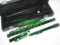 Wholesale Green holes Flutes Woodwind flute with case