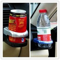 Wholesale 1PC Silver New Vehicle Styling Beverage Bottle Can Drink Car Cup Holder Stand Clip Car Interior Accessories
