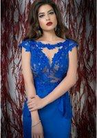 dresses shop - Royal blue evening dress mermaid with v back long mermaid skirt online shopping custom made ZM012
