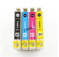 Nuevo Compatible Cartucho de tinta T2001, T2002, T2003, T2004 para Epson XP-200/300/400 WF-2530/2520/2540 10pcs de la impresora