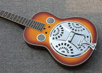 Wholesale New arrival Custom Shop Dobro Resonator Jay Turser JT Res Hollow Body Electric Guitar Sunburst