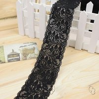 Wholesale 50 Yards Width quot CM Stretch Polyester Embroidery Floral Pattern Elastic Lace Trimming DTY Craft Supply Clothing Accessories