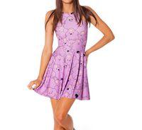 Cheap 2015 Cartoon Color Casual Women Dress Scoop Neck Sleeveless Sexy