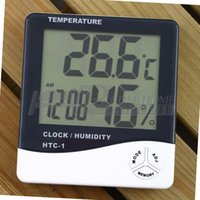 Wholesale 10pcs YKS Alarm Clock Thermometer temperature LCD Digital Humidity Hygrometer Meter for Home and Office