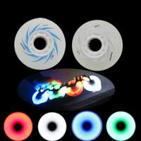 Wholesale A mm Skate Flash Roller Wheels Slalom Braking Roller Skating Wheel LED Light Sliding Skates Wheels