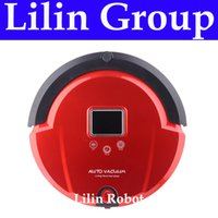 Wholesale 4 In Multifunctional Robot Vacuum Cleaner Sweep Vacuum Mop Sterilize LCD Touch Button Schedule Work Virtual Wall Auto Charge