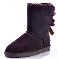 Wholesale New Fashion Australia classic tall winter boots real leather Bailey Bowknot women s bailey bow snow boots