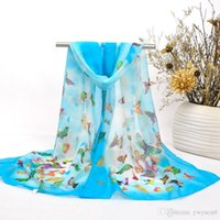 Wholesale New Style Dream Butterfly Pattern Scarf For Women All Match Autumn Long Scarves Lady Best Partner