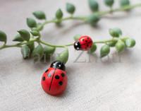 artificial sponges - Mini DIY Artificial Wood Ladybugs Decoration with Sponge Sticker Fairy Series