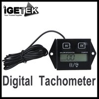 Wholesale Brand New Digital Engine Tach Tachometer Hour Meter Gauge Resettable Inductive Tool for Racing Motorcycle