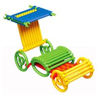 Wholesale 120 Piece set Ring Stick Tube Pipe Changeable Building Blocks Construction Assembly Educational Toy for Baby Kids Children