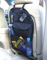 Wholesale Multi Back Seat Pocket storage Organizer Bag Car Storage Pocket Backseat Hanging Storage Bags Waterproof fabric Cup Holder Travel case