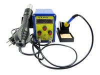 Wholesale Lead free BGA solder station with hot air gun solder iron digital display