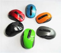 Wholesale Mini Small USB Wireless Mouse Optical Cordless Mice for Laptop Notebook PC Colors Mixed Order Via DHL