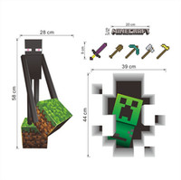 Wholesale New Christmas Minecraft Wall Stickers Creeper Enderman Wallpaper D Decorative Wall Decals Wallpaper Rolls Party Decorations Décor Free DHL