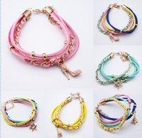 Cheap Fashion High heels bracelets jewelry,Eiffel Tower woven bracelets,charm leather bracelet,friendship bracelet,summer cheap jewellery.20pcs.SH