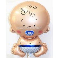 baby strollers for boys - angel Boy baby Mylar balloon for newborn baby birthday party decoration helium balloons stroller balloon