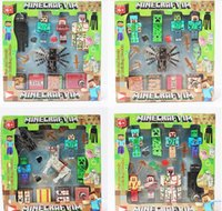 Wholesale 3inch Minecraft creeper Building Block Toys minecraft spider Assembly Toys Compatible Action Toy Figures For Gift