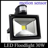 Wholesale 30W PIR Motion Sensor Home Garden Security LED Flood Light LED Floodlight Outdoor Lamp AC V Outdoor Light TGD033
