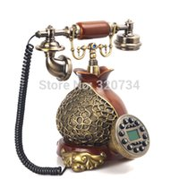 antique wooden telephone - pretty corded wooden antique telephone