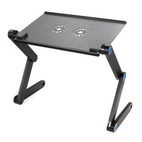 Wholesale 360 Degree Portable Folding Black Metal Laptop Notebook Computer Stand Table Desk Bed Office Sofa Tray