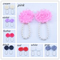 Wholesale New Baby Girls Barefoot Sandals Flower Shoes Fashion Shabby Flower Summer Shoes pairs EMS free