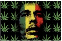 Cheap home decoration wall stick decorate room bob marley art poster wall stickers, 50x75cm poster free shipping