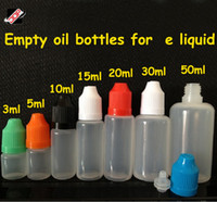 Wholesale FedEx DHL free translucence body PE material E cigarette oil bottles ml empty bottle