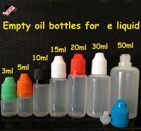 body oils - FedEx DHL free translucence body PE PET material E cigarette oil bottles ml empty bottle
