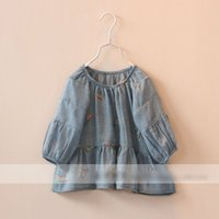 hot pink butterfly - 2015 Hot sell Spring Children Dress Girls embroidery Butterfly dress Kids Elegant princess dress white yellow orange pink blue CA7228