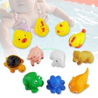 Cheap set of 11 swim pool floating float rubber animals toys for baby kids EX1102