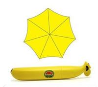 banana tea - 100pcs DHL New arrival personalized cartoon umbrella portable child umbrella fashion fresh banana folding umbrella