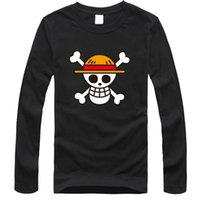 anime shirt designs - One Piece T Shirt Luffy Straw Hat Japanese Anime T Shirts Cotton O neck long sleeve T shirt Men Anime Design One Piece T shirt