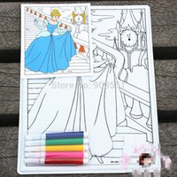 Wholesale big size coloring murals children relief painting drawing paper kids coloring pen color paper for learning and educational toys