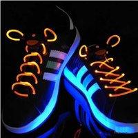 Cheap LED Lighter Shoelace 16 Color 80cm Fashion LED Flashing shoe laces Fiber Optic Shoelace Luminous Shoe Laces Light Up Shoes lace L1DBCD