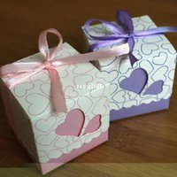 Wholesale Hollowed Heart Elegant Wedding DIY Paper Gift Jewelry Candy Box